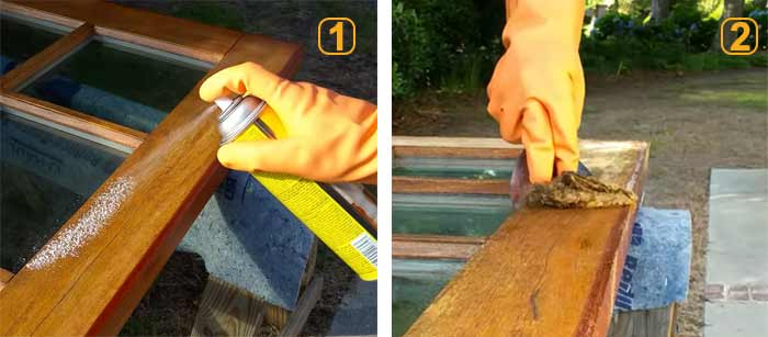 como usar decapante para madera